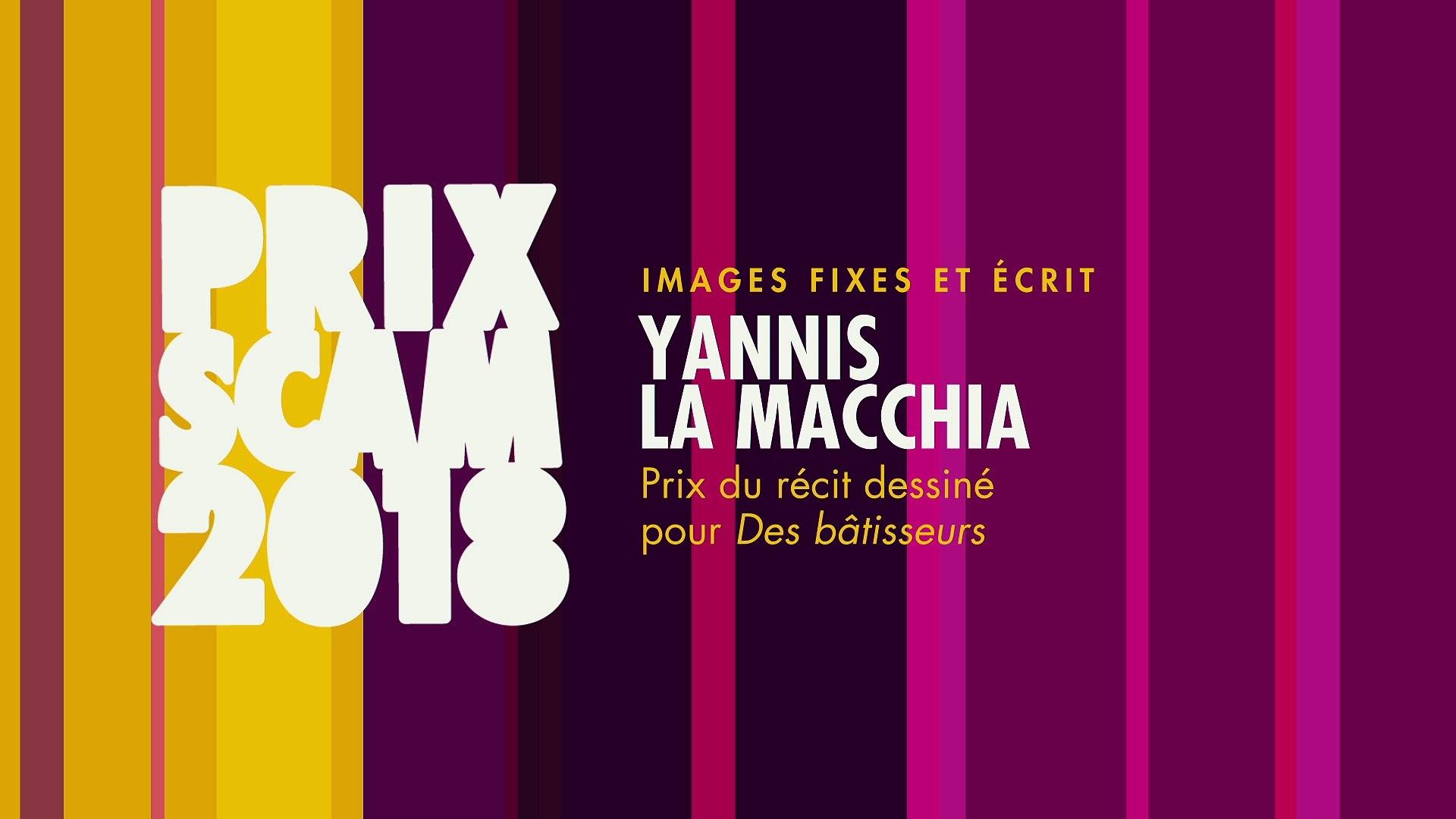 Prix du récit dessiné 2018 : Yannis La Macchia
