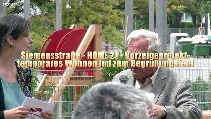Siemensstraße - HOME21 -  Vorzeigeprojekt  temporäres Wohnen lud zum Begrüßungsfest