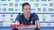 """Coupe du monde 2018 : """"On est heureux de la qualification. On reste concentrés, on essaiera d'aller le plus loin possible mais on ne veut pas s'enflammer"""", réagit Florian Thauvin, attaquant de l'équipe de France #CM2018"""