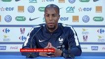 """Djibril Sidibé pas titulaire : """"Il y a un peu de frustration puisque j'ai joué la plupart des matchs avant la Coupe du monde. Il faut attendre l'occasion pour regagner ma place"""", reconnaît le défenseur de l'équipe de France"""