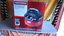 Unboxing & First Start Up - Craftsman 6 Gallon Oil-less Pancake Compressor and Hose Kit