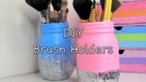DIY  Easy Makeup Brush Holders! - YouTube