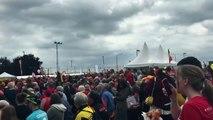 Waremme:  plus de 2.500 personnes pour soutenir les Diables Rouges au Pôle Ballon