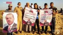 Gazzelilerden Cumhurbaşkanı Erdoğan'a teşekkür ve sevgi gösterisi