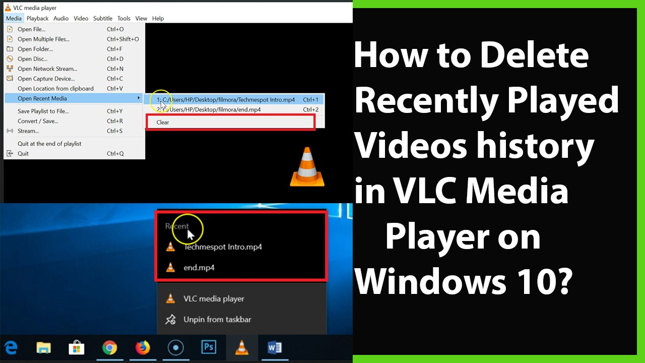 How to Delete Recently Watched Videos History on VLC Media Player in  Windows 10?