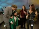 Raw 10 12 07 Hornswoggle & Molly Holly Backstage