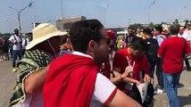 الجمهور التونسي يغني أمام ملعب سبارتاك في العاصمة الروسية موسكو قبيل انطلاق مباراة نسور قرطاج المصيرية أمام بلجيكا #مونديال_الآن#روسيا٢٠١٨#كأس_العالم
