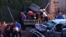 Report TV - Pamjet nga aksident i rëndë në Shkodër, përplasen dy automjete, 7 të plagosur