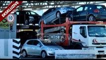 Ekskluzive pamjet nga Durrësi, bllokohen në port rreth 4 mln euro në 2 makina, 3 në pranga