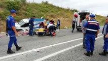 Bursa'nın Yenişehir ilçesinde tarım işçilerini taşıyan kamyonetin kaza yapması sonucu 2 kadın işçi öldü öldü, 41 kişi yaralandı.