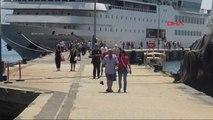 Antalya Lübnanlıları Taşıyan Kruvaziyer Alanya'ya Geldi