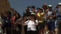 Prince William visits Jordanian archaeological site