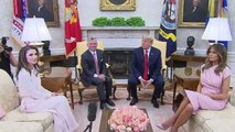 Trump meets King Abdullah of Jordan, speaks on family separations at border