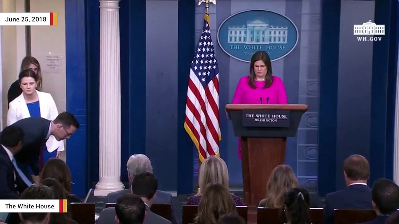 Sarah Sanders Addresses Red Hen Restaurant Controversy At White House Press Briefing