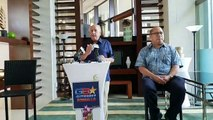 Gubernatorial and Lt. Gubernatorial candidates Governor Carl Gutierrez and Fred Bordallo hold a press conference at Sheraton Laguna Guam Resort