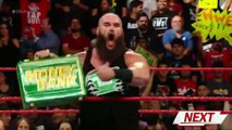 Braun Strowman & Kevin Owens VS Finn Balor & Baron Corbin WWE RAW 25th June 2018