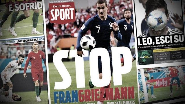 Les Danois craignent le petit prince Antoine Griezmann, la presse italienne élimine déjà Lionel Messi