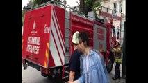 Mimar Sinan Üniversitesi çatışında korkutan yangın