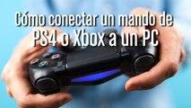 Cómo conectar un mando de PS4 o Xbox a un PC