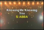Abba Knowing Me Knowing You Karaoke Version