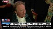 Gérard Depardieu s'emporte contre les journalistes - ZAPPING ACTU DU 26/06/2018