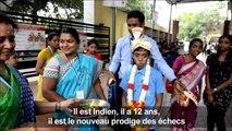 Inde: à 12 ans, il devient grand maître des échecs