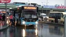 İstanbul'da etkili olan şiddetli yağış zor anlar yaşattı