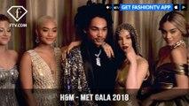 H&M Designs Met Gala 2018 Gold and Shimmering Celebrity Looks | FashionTV | FTV
