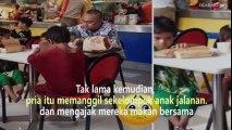 Pria ini Mengajak Anak-anak Jalanan untuk Makan Siang, Terenyuh Mendengar Anak itu Berkata...
