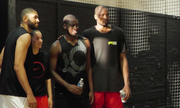 Pick Up Game Pro avec Serge Ibaka, Nicolas Batum, Andrew Albicy, Sylvain Francisco, Lisa Berkani, Moustapha Fall...