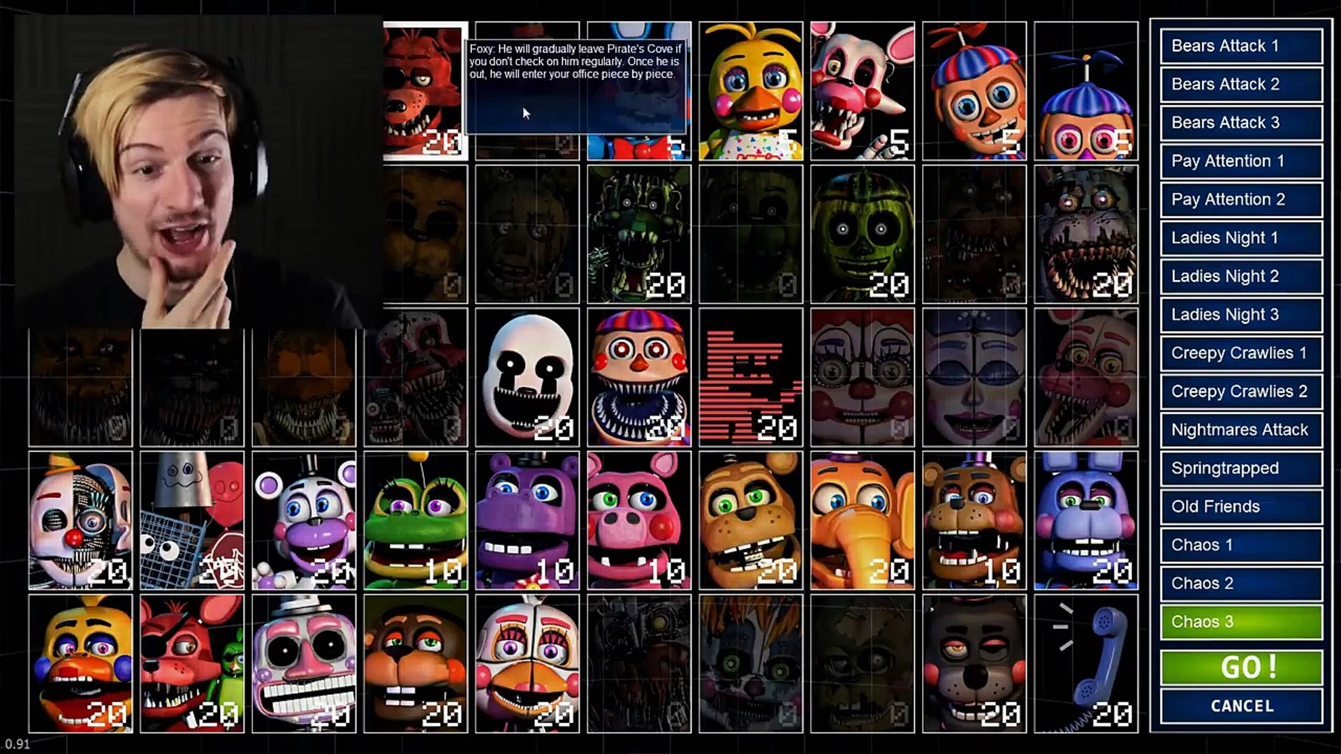 THE ANIMATRONICS ARE BACK  (This is AMAZING) || FNAF: Ultimate Custom Night  (Part 1)