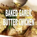 BAKED GARLIC BUTTER CHICKEN! Super quick, easy and SO delicious Garlic Butter Chicken with fresh rosemary and cheese. The perfect one pan dish for a weeknight!