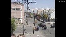 فيديو سائق تاكسي يدهس سائق دراجة هوائية ويسرق نقوده