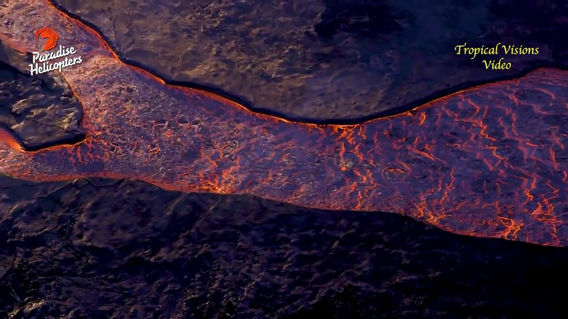 El volcan kilaueaen hawai aumenta el flujo de lava deforma sorprendente erupción volcánica 2018