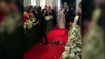 فتاة أرادت التقاط صورة لعروس خلال حفل زفافها فتسببت في كارثة.. فيديو