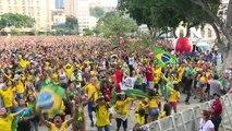 Mondial-2018: les Brésiliens fêtent à Rio la victoire du Brésil