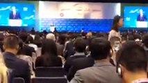 สมคิด จาตุศรีพิทักษ์ รองนายกรัฐมนตรี กล่าวถึงศักยภาพของประเทศไทยต่อนักลงทุนต่างชาติโดยเฉพาะนักลงทุนจีนในงานประชุม Belt and Road Summit 2018 ณ เขตปกครองพิเศษ ฮ่องกง สาธารณรัฐประชาชนจีน