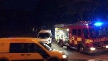 Firefighters patrol roads in Saddleworth as motorists flee fire
