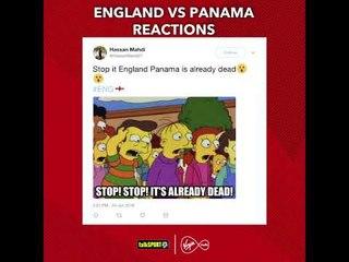 How England v Panama unfolded on twitter!