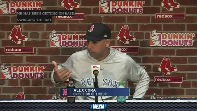 Red Sox First Pitch: Alex Cora Praises Back End Of Red Sox's Batting Order