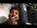 Nick Swaggy P Young clowning with D'Angelo Russell and other Lakers