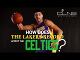 How does the LAKERS record affect the CELTICS draft pick? JARED WEISS explains...