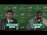 Brad Stevens and Kyrie Irving Talk Loss to Cavs, Paul Pierce Jersey Retirement