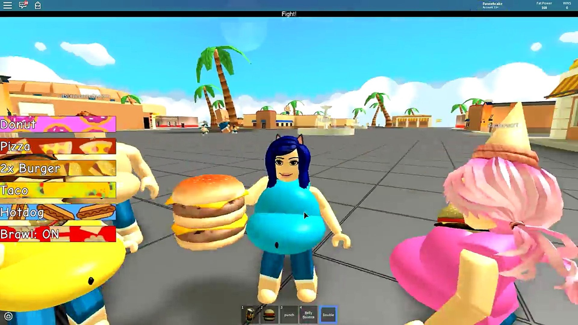 370.GETTING SUPER FAT IN ROBLOX! ROBLOX EATING SIMULATOR!!