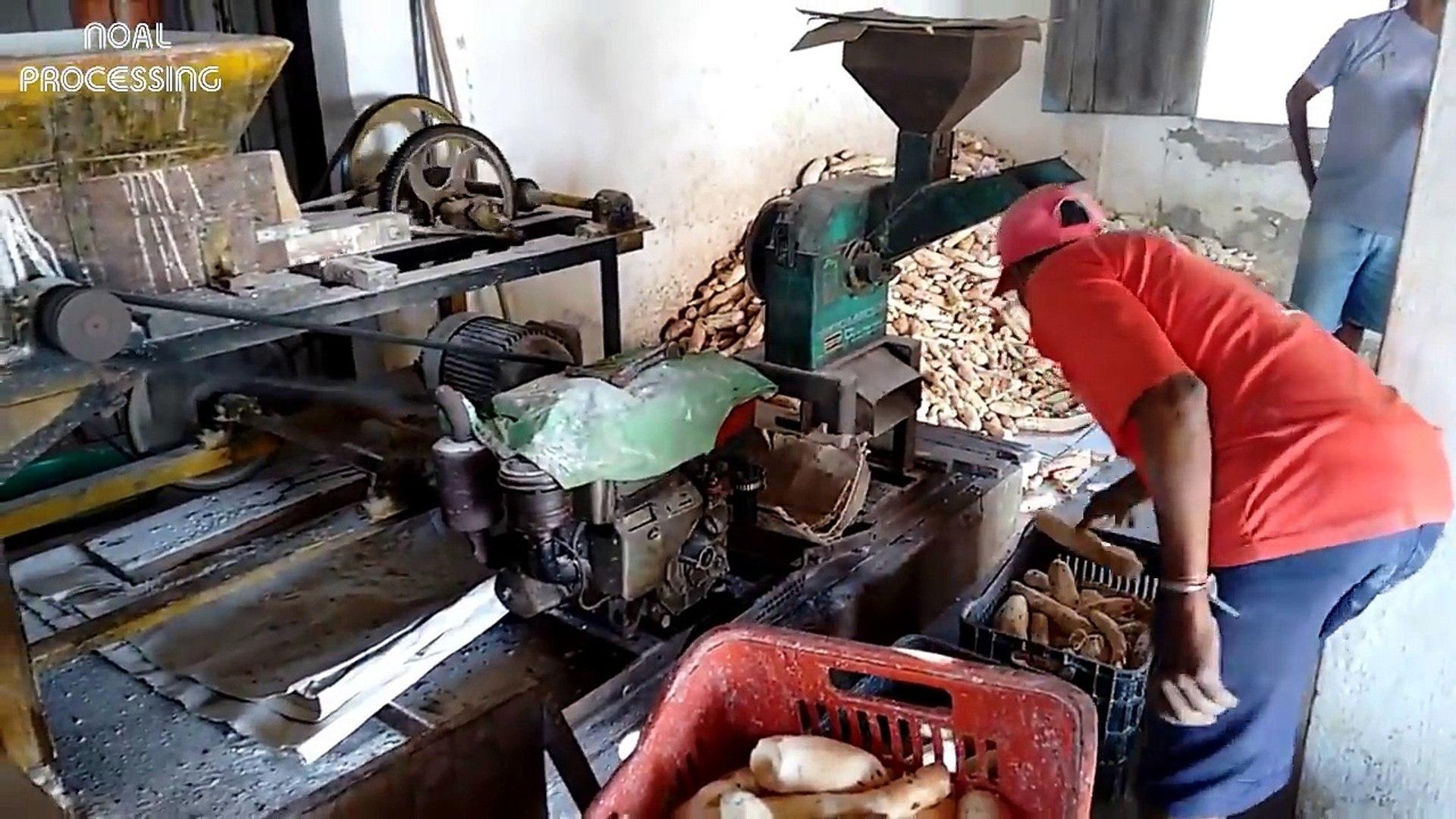 Process Of Making Cassava Flour by Manual Method - Cassava processing line