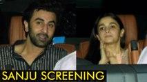 Sanju Screening : Ranbir Kapoor and Alia Bhatt Together Watch Sanju