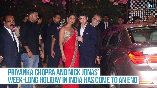 Priyanka Chopra and Nick Jonas leave India