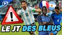 JT des Bleus : le plan anti-Messi de la France, l'Argentine prépare des surprises