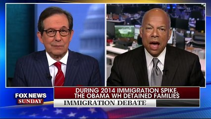 "Fox News Sunday. Jeh Johnson, Homeland Security secretary during the Obama administration, tells Chris: ""unless we deal with the underlying causes that are motivating people to come here in the first place, we're going to continue to bang our heads"