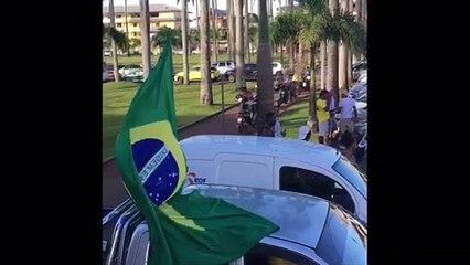 Les supporters du Brésil en Guyane Française